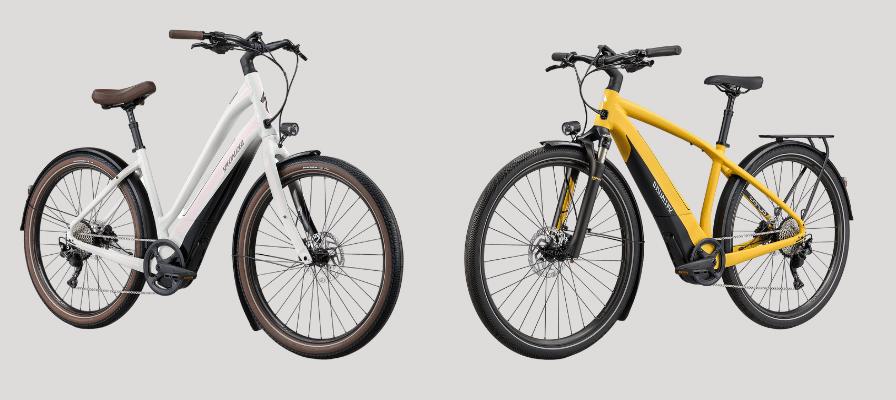 Specialized e-Bikes weiss und gelb