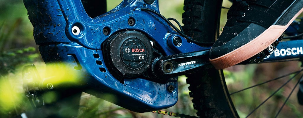 Nahaufnahme des Bosch Performance CX Motors