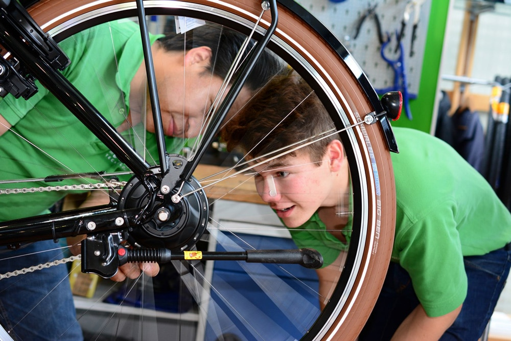 Reifendruck Test e-Bike