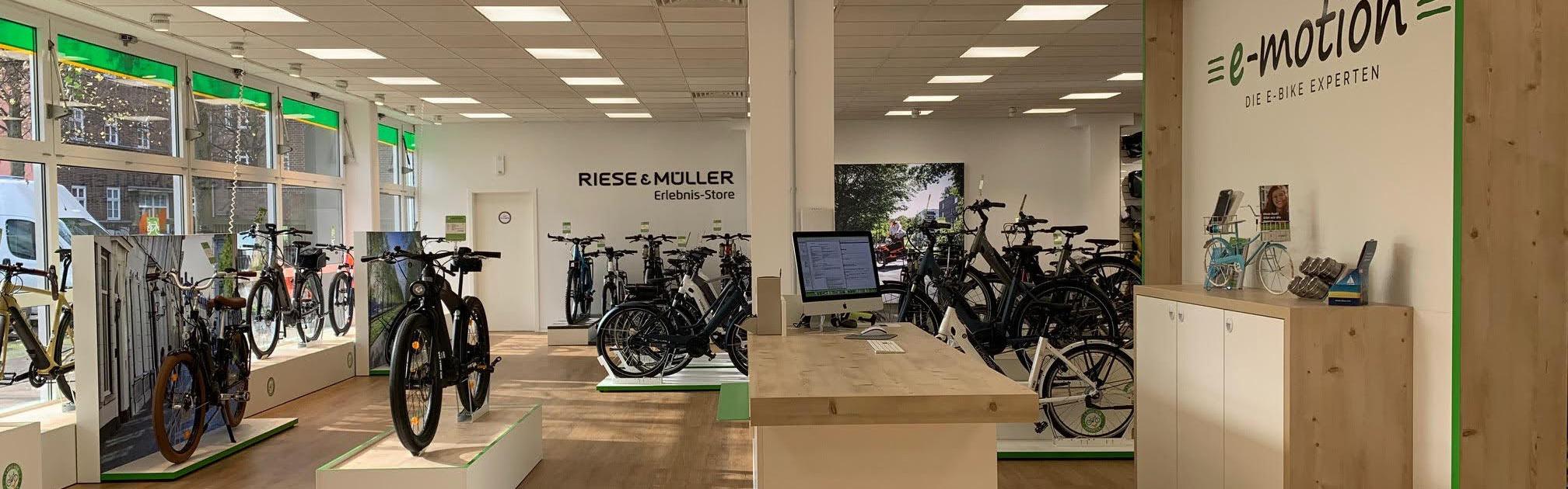 Innenansicht des e-motion Shops Hannover-Südstadt