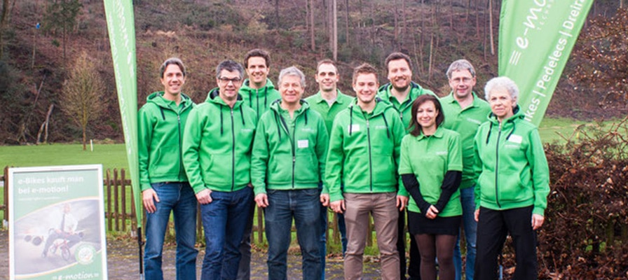 Das Team der e-motion e-Bike Welten in der Schweiz
