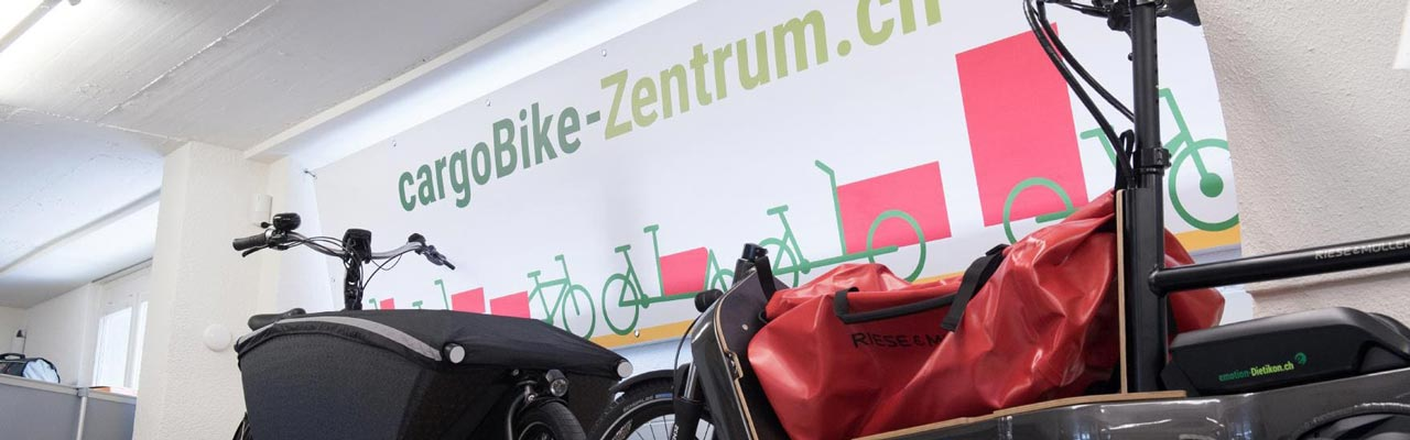 Cargobikes in der e-motion e-Bike Welt Dietikon