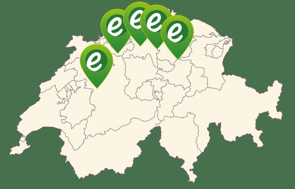 e-motion Shops in der Schweiz