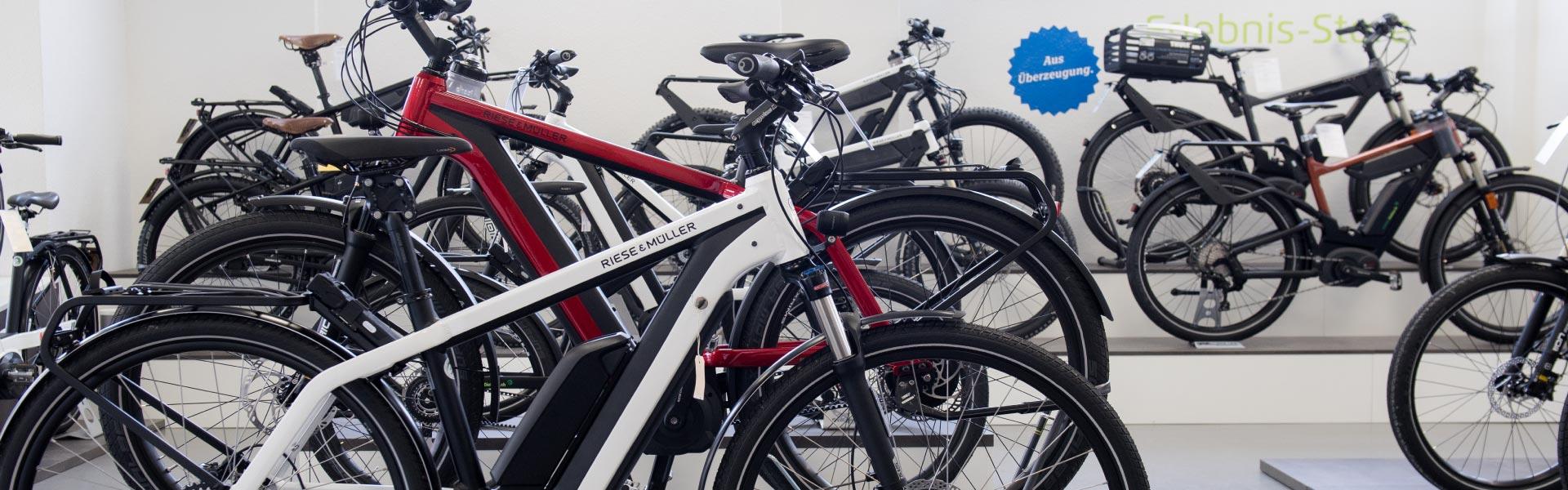 Die Innenansicht der e-motion e-Bike Welt in Dietikon