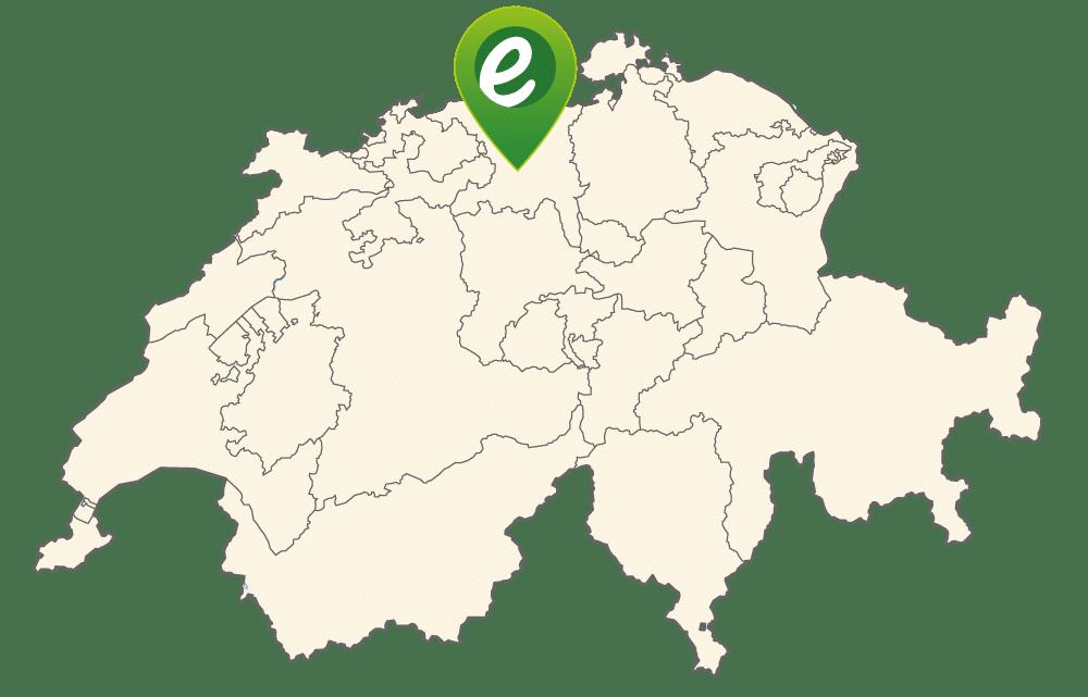 Lage von e-motion Aarau-Ost in der Schweiz
