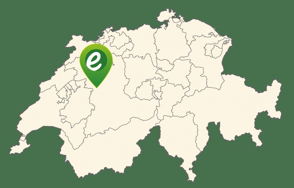 Lage von e-motion Bern in der Schweiz