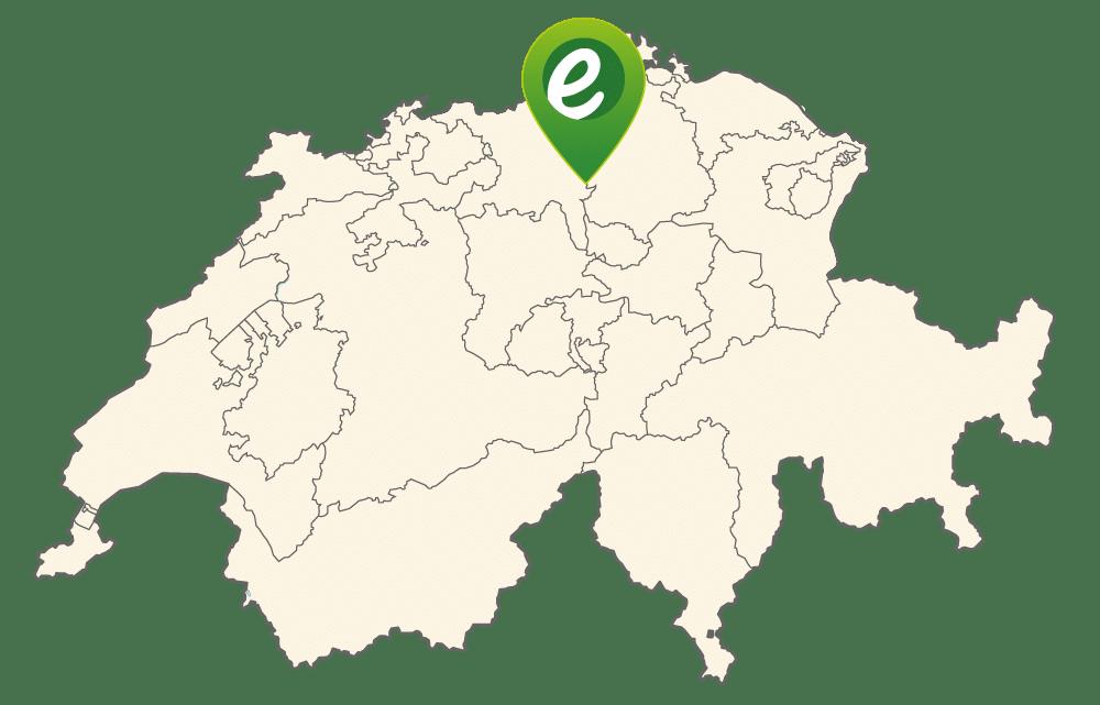 Lage von e-motion Dietikon in der Schweiz