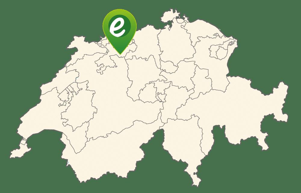 Lage von e-motion Egerkingen in der Schweiz