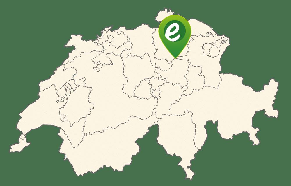 Lage von e-motion Hombrechtikon in der Schweiz