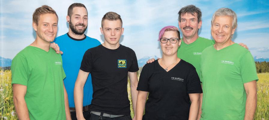 Das Team der e-motion e-Bike Welt Olten