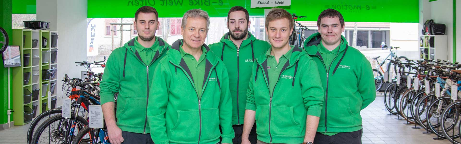 Das Team der e-motion e-Bike Welt Egerkingen