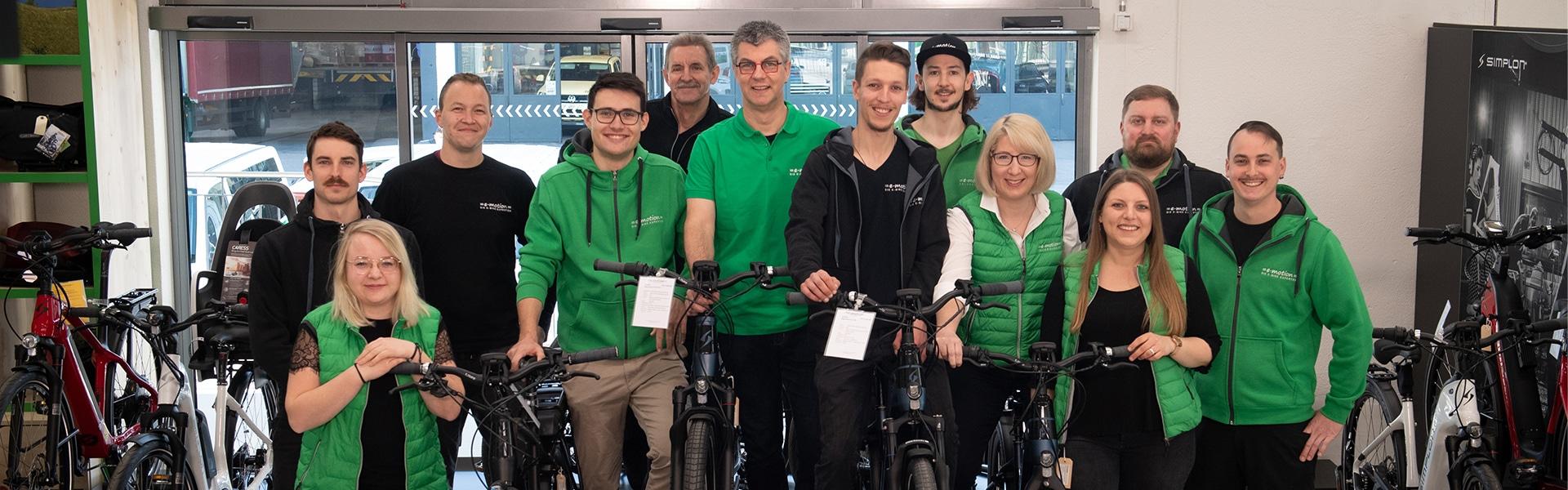 Das Team der e-motion e-Bike Welt Dietikon