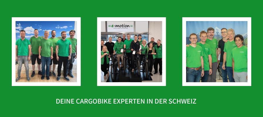 Cargobike-Zentren in der Schweiz