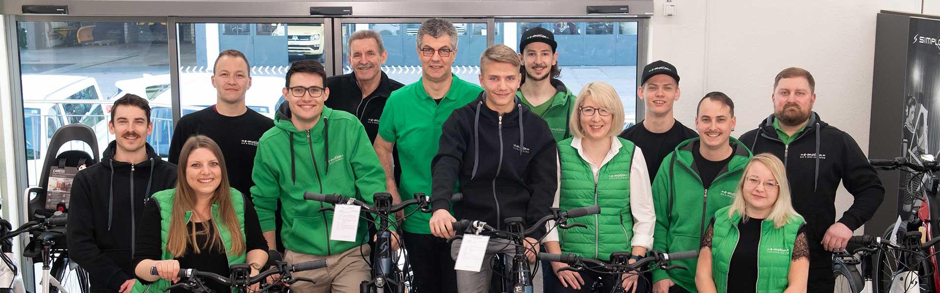 e-motion e-Bike Welt Dietikon Teambild 2021