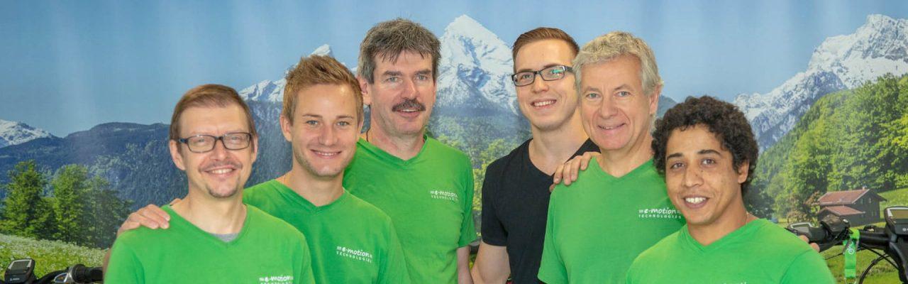 Das Team der e-motion e-Bike Welt Aarau Ost